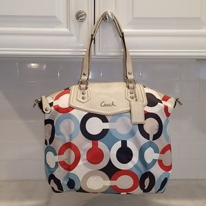 Coach HTF Ashley OpArt North South Shoulder Bag